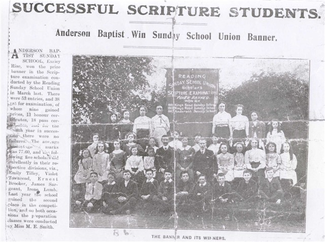 Sunday School Exam Leaders & Winners 1913